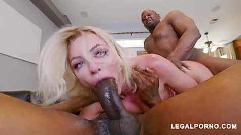 Adriana Chechik is squirting while cumming and likes to have casual threesomes with black guys