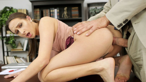 Ashley Adams is fucking inside a pussy and a tight asshole with her teacher