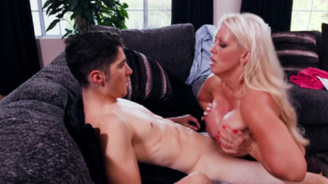 Alura Jenson got tired of dull husband and cheated with a neighbor