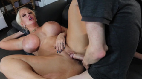 Alura Jenson with big boobs fucks with her neighbor inside a pussy