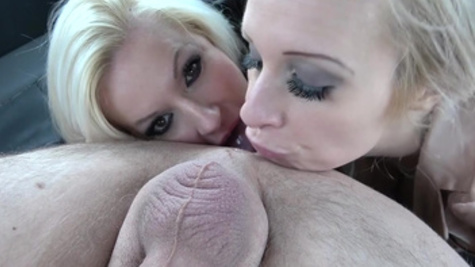 Sophie Anderson playfully makes driver fuck her and Michelle Thorne