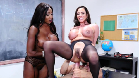Teachers Ariella Ferrera and Diamond Jackson make it with student