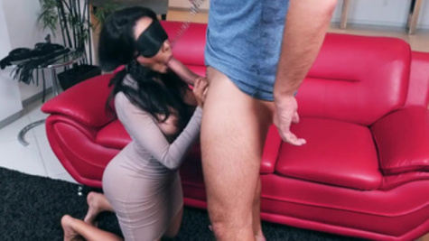 Slim body of slutty young woman Lela Star blows lover's mind