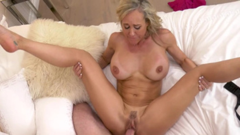 Brandi Love has just met guy as she takes him to bedroom
