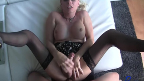 Sexy shemale Joanna Jet makes a passionate sex with her lover