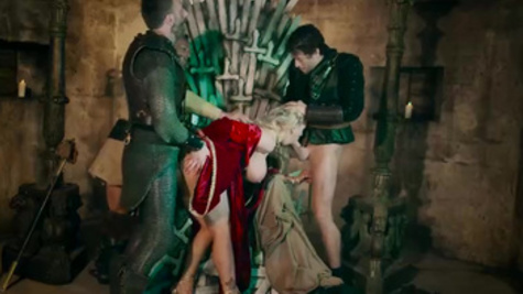 Queen was caught by enemy soldiers and fucked in asshole