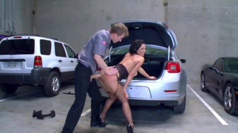 Veronica Avluv fucks with a stranger on the car park in the doggy style pose