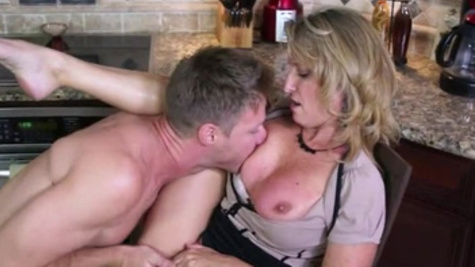Blonde beauty Jodi West getting fucked on a chair