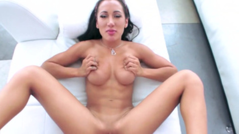 Curvy ass angel Amia Miley fucks with her client for money in a POV video