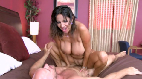 Tight wife welcomes neighbor with a staggering hardcore fuck