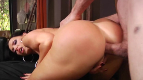 Nikki Benz tries massive dick down her butt hole in perfect anal