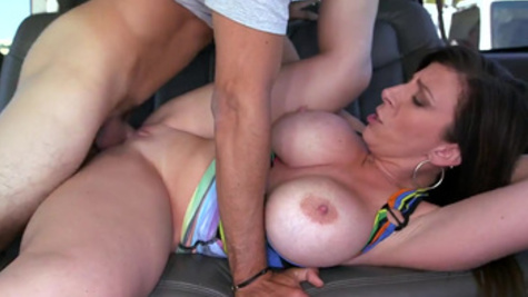 Hot mom,Sara Jay, tries younger cock in special bang bus porn experience