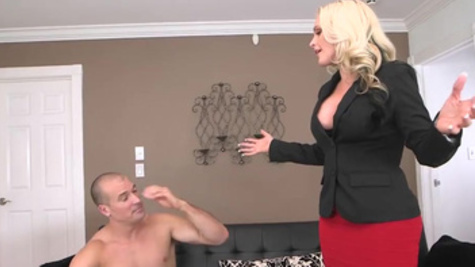 Milf with fine ass, Alena Croft, bends over for cock in rough modes