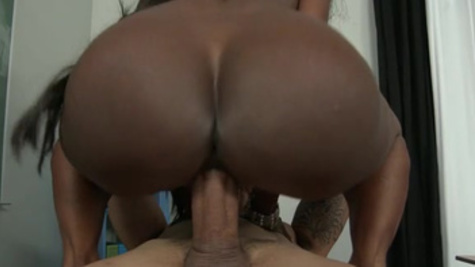 Tight ebony mils, Diamond Jackson, perfect pounding with a white male