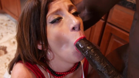 Busty milf deals huge black cock in serious modes during top interracial