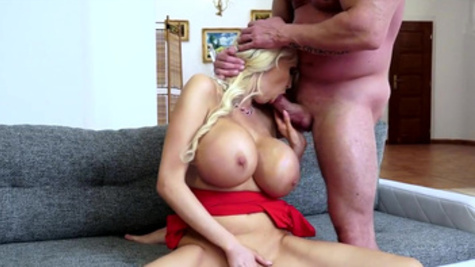 Superb scenes of dirty cock sucking along voluptuous Sandra Star