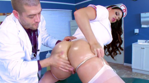 Nurse with amazing booty, Alison Tyler, fucked in rough anal scenes
