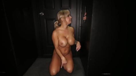 Gloryhole porn pleasures for cock sucking mom,Alyssa Lynn