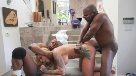 Wild interracial sex experience for busty milf, Ryan Conner