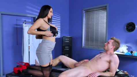 Office milf with huge tits, Ava Addams, delights with pussy younger man