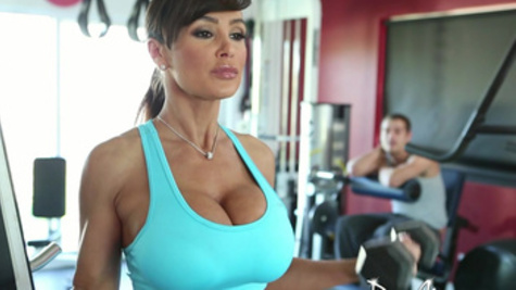 Amazing pussy workout with breathtakingly beautiful Lisa Ann