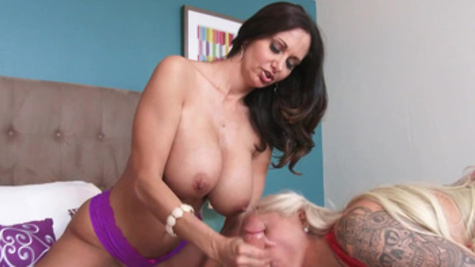 Fantastic and racy hot threesome with busty Ava Addams