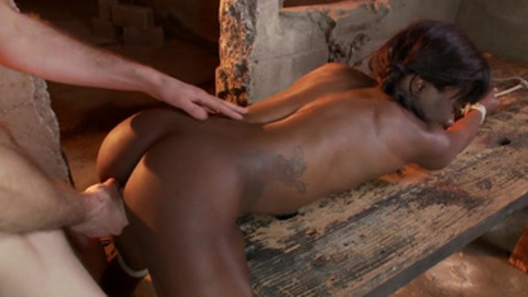 Submissive ebony Ana Foxxx enjoys raucous and wild sex