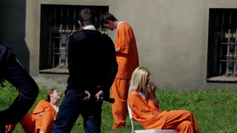 Hot inmate Lola Reve receives wicked doggystyle hammering