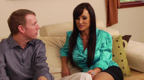 Lisa Ann with big boobs enjoys a rough doggystyle hammering
