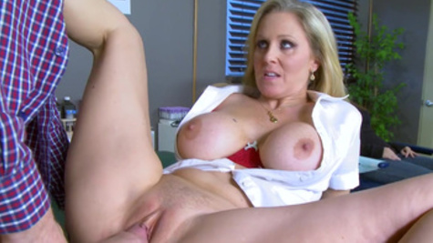 Danny D receives lusty pecker riding from sultry Julia Tavella