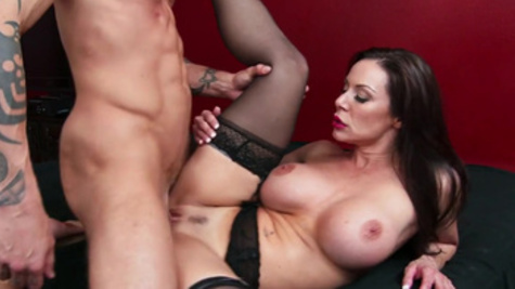 Wicked doggystyle pounding for busty Kendra Lust in stockings