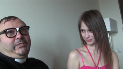 Sweet Beata Undine's wild sex with a horny and mature priest