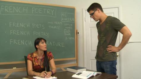 Hot teacher Eva Karera gives explicit classroom lessons