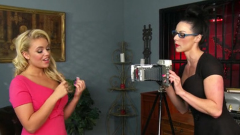 Thick strapon pounding for hot blonde slave Kendra Lust