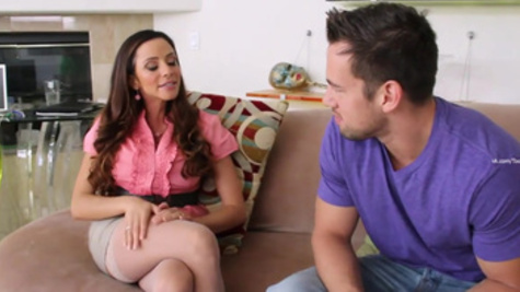 Deep doggystyle drilling for Ariella Ferrera after blowjob