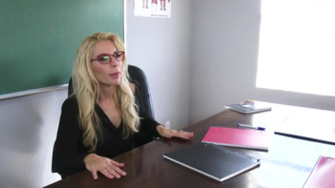 Fascinating teacher Ashley Fires and her hot student