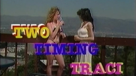 Vintage porn scene features Traci Lords naked outdoor
