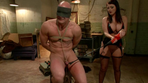 Bondage sex action with wild mistress Sophie Dee and her man