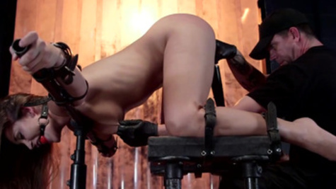 Gagged and bounded Dani Daniels receives wicked punishment