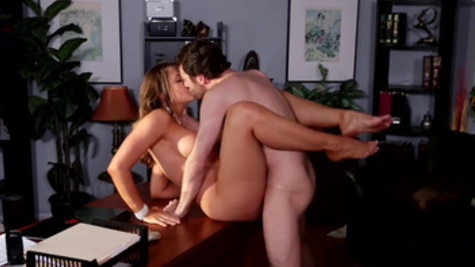Horny stud James Deen having sex during his working day
