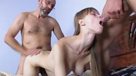 Beata Undine fucks young boyfriend and his aged father