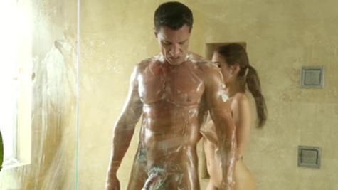 Hot stud fucking his marvelous girlfriend Riley Reid