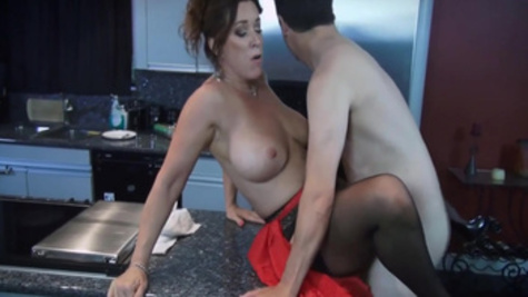 Busty housewife Rachel Steele is fucking with her lover in the doggystyle