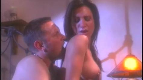 Impressed man fucks Sydnee Steele in corset on the bed