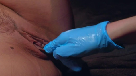 Rebecca Vanguard inspects vagina of prisoner Georgia Jones