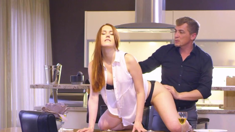 Sexy Czech girl Charlie Red is fucked by the older man