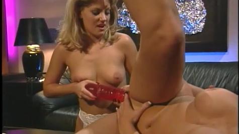 Toni James and Johnni Black have big sex toys to fuck