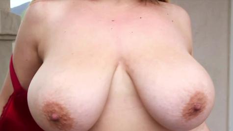 Shameless girl Aurora Rose exposes boobies and ass