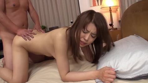 Oriental babe Shiho Tachibana with hairy cunt has sex with man