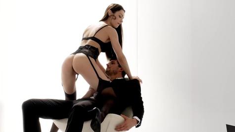 Russin girl Arwen Gold in black underwear is fucked